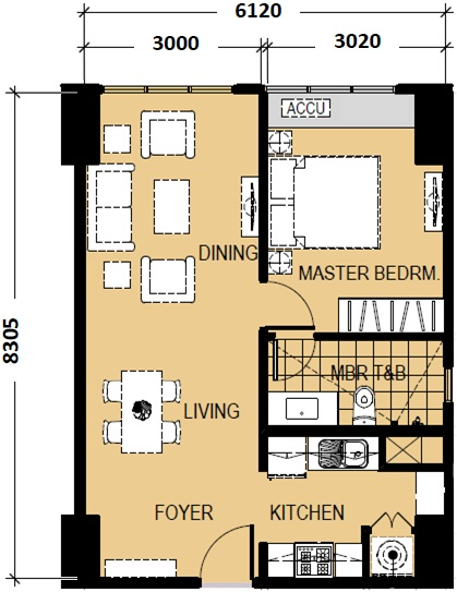 Escala salcedo ryan rey data for 1 bedroom condo floor plans