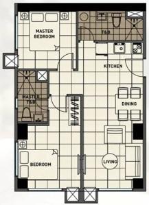 2 Bedroom Floor Plan | 61.62 sqm - 106.75 sqm