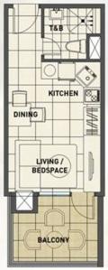 Studio Floor Plan | 22.58 sqm - 31.97 sqm