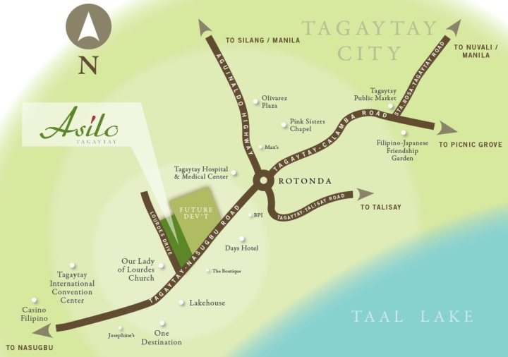 Asilo Tagaytay Vicinity Map