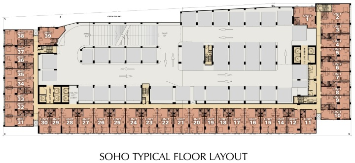 SOHO Typical Floor Layout