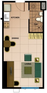 Special Studio Floor Plan | 36.30 sqm - 39.28 sqm