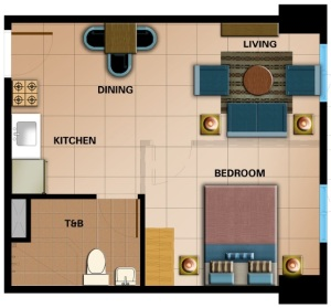 Studio Floor Plan | 36.30 sqm - 39.28 sqm