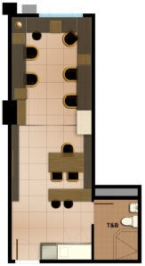 SOHO Unit Suggested Layout | Purely Office | 36.49 sqm - 61.79 sqm
