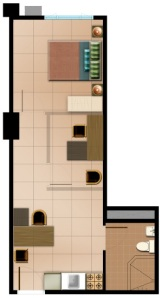 SOHO Unit Suggested Layout | With Residential Component | 36.49 sqm - 61.79 sqm