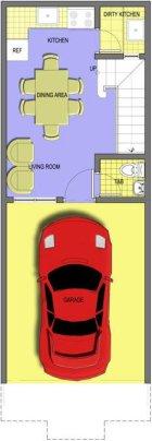 Mendoza Project - Model B Unit - Ground Floor Plan