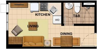 Studio Floor Plan | 20.87 sqm - 28.16 sqm