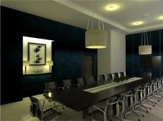 Preliminary Board Room Perspective