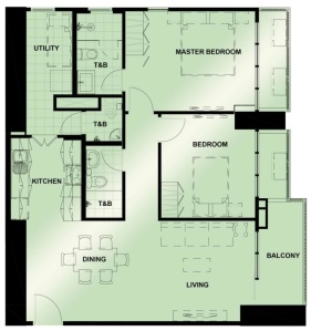 2 Bedroom Floor Plan | Approximately 97 sqm