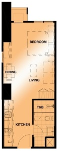 Studio Floor Plan | Approximately 36 sqm - 37 sqm