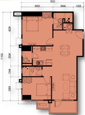 2 Bedroom Floor Plan Unit 15 | Approximately 77 sqm - 84 sqm