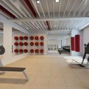 Tower 1 Gym - Artist's Perspective