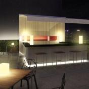 Tower 3 Roof Deck Bar - Artist's Perspective