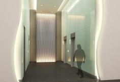 Elevator Lobby - Artist's Perspective