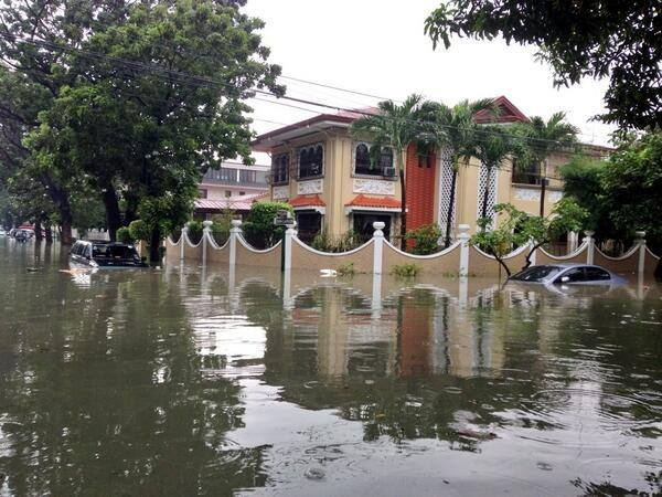 Flooded street in Magallanes Village, Makati_Photo via Ryan Chua