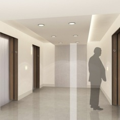 Residential Elevator Lobby - Artist's Perspective