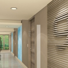 Residential Hallways - Artist's Perspective