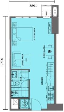 Studio Floor Plan | Approximately 32 sqm
