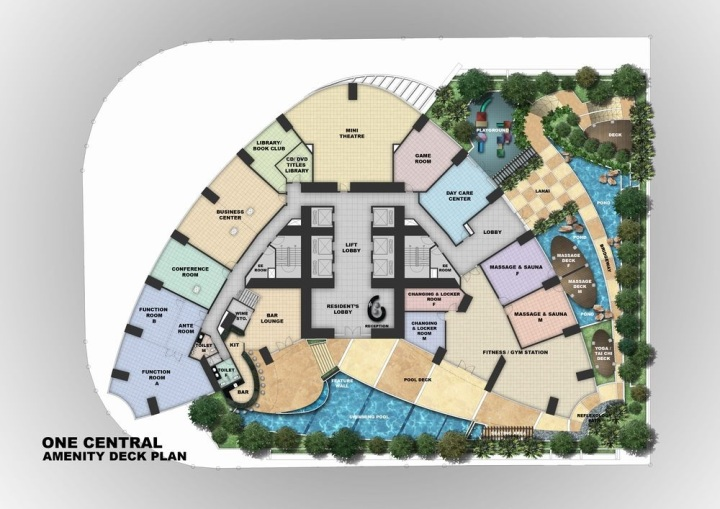One Central - Amenity Deck Plan