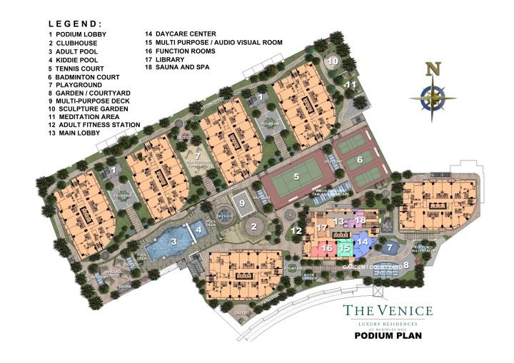 The Venice - Podium Plan
