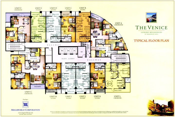The Venice - Typical Floor Plan - Towers Alessandro, Bellini, Caruso and Domenico